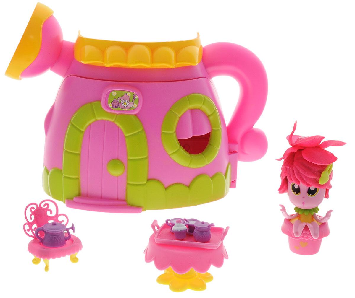 Daisy Игровой набор с мини-куклой Цветочек с домом29505Милые куколки-цветочки Daisy Flowers - это разноцветные разборные игрушки, которые могут меняться между собой прическами, цветочными шляпками и аксессуарами. В игровой набор входят кукла-цветочек, домик в виде лейки, мебель и посуда. Куколки-цветочки можно наряжать, меняя их образы, брать с собой в дорогу или в гости! Соберите всю коллекцию и подружите куколок между собой!