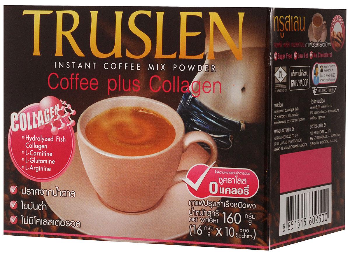 Truslen Тruslen Coffee Plus Collagen кофейный напиток в пакетиках, 10 шт 2300