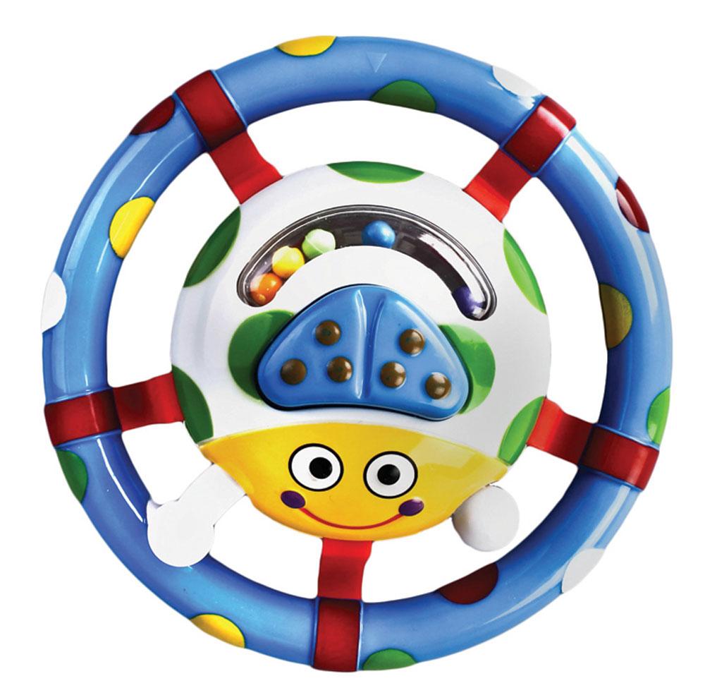 Жирафики Погремушка Жучок628923Яркая и забавная погремушка понравится малышу! Внутри игрушки «бегают» разноцветные шарики, за которыми так интересно следить. Играя с погремушкой, ребенок развивает слуховое, пространственное и зрительное восприятие, а также тактильные ощущения, учится находить источник звука, сосредотачиваться и следить за движением.