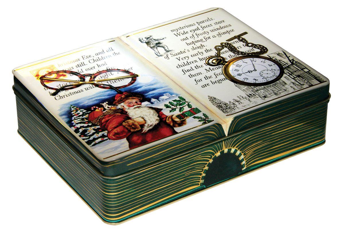 Сладкая Сказка Новогодняя история имбирные пряники в шоколаде, 400 гLX-2Вкуснейшие имбирные пряники в подарочной банке, выполненной в виде открытой книги с новогодней историей, станут отличным подарком к Новому году и Рождеству.