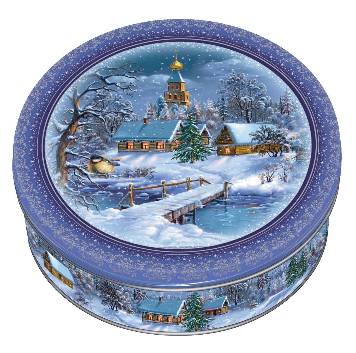 Сдобное печенье со сливочным маслом в подарочной банке с дизайном, выполненным по мотивам русской зимы. 100% натуральный продукт изготовлен на фабрике «МАК-Иваново», принадлежащей ГК «Сладкая сказка». Полный цикл производства включает также изготовление самой банки.