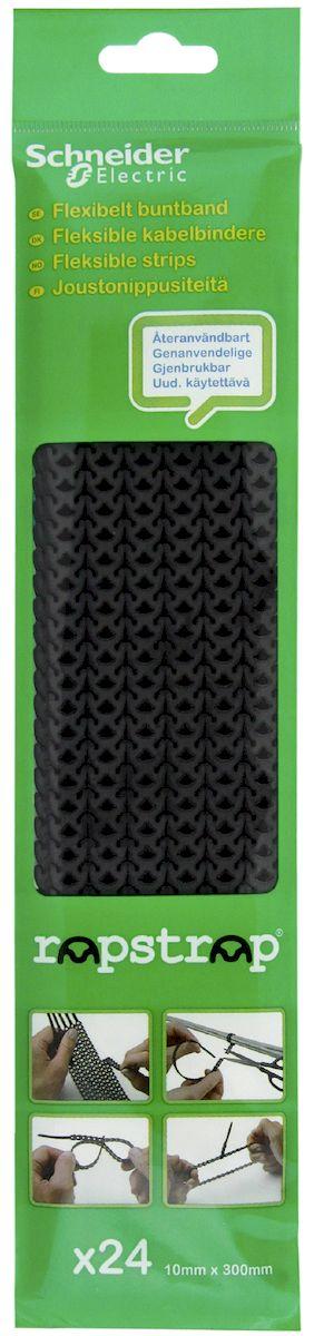 """Стяжка Schneider Electric """"Rapstrap"""", цвет: черный, 24 шт. IMT38068"""