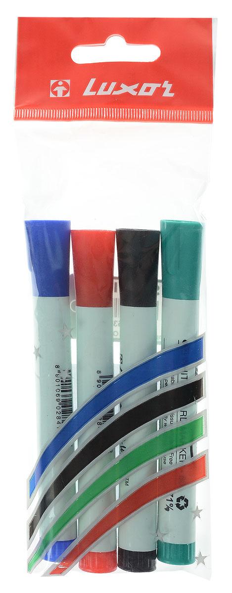 Luxor Набор маркеров для флипчартов 4 цвета