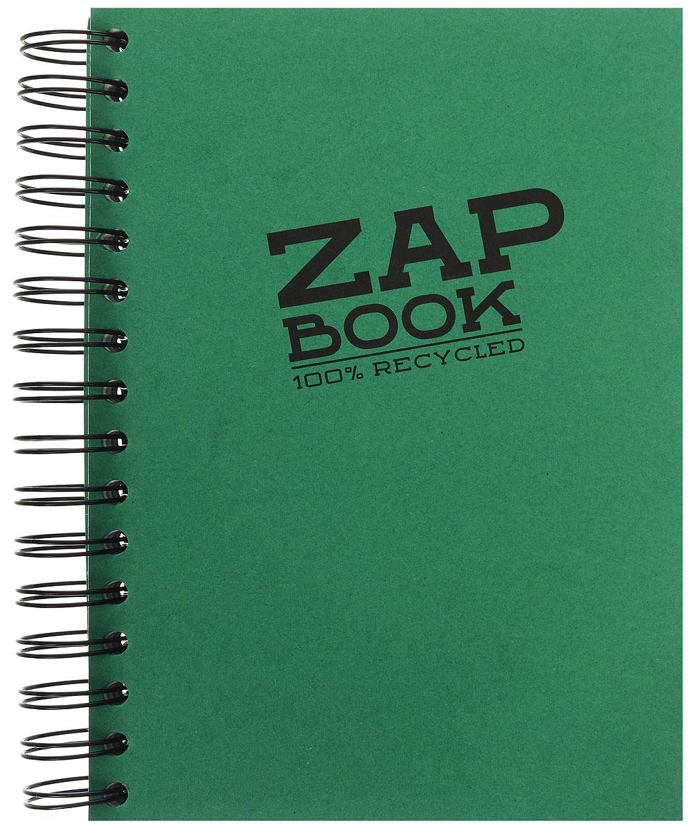 Clairefontaine Блокнот для эскизов Zap Book 160 листов цвет зеленый8355С_зеленыйClairefontaine - французская компания, выпускающая канцелярские товары, тетради и блокноты с 1858 года. Блокнот для эскизов Clairefontaine Zap Book формата А5 идеален для рисования, эскизов и заметок. Изготовлен из переработанной бумаги. Цветная обложка из плотного картона. Внутренний блок на 320 страниц на гребне, без разметки.