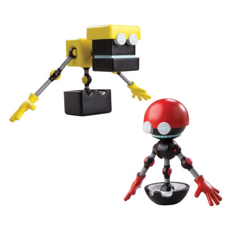 Sonic Boom Набор фигурок Кубор и ОрботT22004Набор фигурок Sonic Boom Кубор и Орбот создан по мотивам мультсериала Sonic Boom, основанного на культовой компьютерной игре 90-х годов Sonic the Hedgehog. Суперскоростной синий ёжик Соник хорошо знаком даже тем, кто не увлекается видеоиграми. Неординарная внешность, яркий характер и потрясающая харизма делают этого героя не только привлекательным, но и запоминающимся персонажем, образ которого не устарел за столь длинную для компьютерного героя историю. Благодаря мультфильмам о приключениях Соника и его друзей забавный синий ежик и по сей день остается одним из любимых героев как у детей, так и у взрослой аудитории. Кубор и Орбот - небольшие роботы, помощники Доктора Эггмана. Обычно они указывают на ошибки Эггмана, чем иногда злят его. Кроме того они часто раздражают своего создателя своими непрекращающимися разговорами. Их основная функция, кажется просто ретрансляция информации Доктору Эггману, чтобы он убедился, что все его планы выполняются...