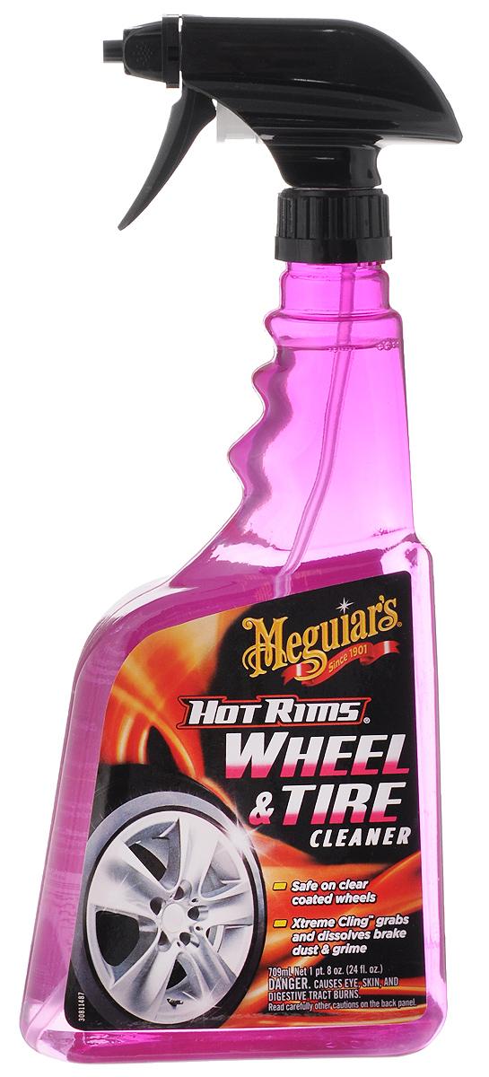Очиститель колесных дисков Meguiars Hot Rims. Wheel & Tire Cleaner, 709 млG 9524Очиститель Meguiars Hot Rims. Wheel & Tire Cleaner позволяет без усилий удалять пригоревшую тормозную пыль, въевшуюся дорожную грязь, солевые пятна и следы битума. Проникающие, очищающие и нейтрализующие компоненты состава размягчают грязь, отделяют ее от поверхности и смывают. Очиститель безопасен для хрома, полированного и неполированного алюминия, лакового слоя и любой заводской краски колесных дисков. Обладает антистатическим действием, придает поверхности колес грязеотталкивающие свойства. Товар сертифицирован.