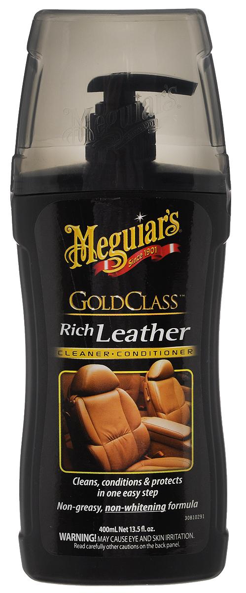 Очиститель и кондиционер для кожи Meguiars Rich Leather, 400 млG 17914Очиститель и кондиционер для кожи Meguiars Rich Leather гарантированно очищает, увлажняет и защищает изделия из натуральной кожи. Содержит увлажняющие питательные вещества, сохраняющие эластичность кожи и придающие ей роскошный внешний вид. УФ-фильтр предотвращает от высыхания, растрескивания и старения натуральной кожи. Не содержит вредных растворителей. Не оставляет жирного блеска. Объем: 400 мл. Товар сертифицирован.
