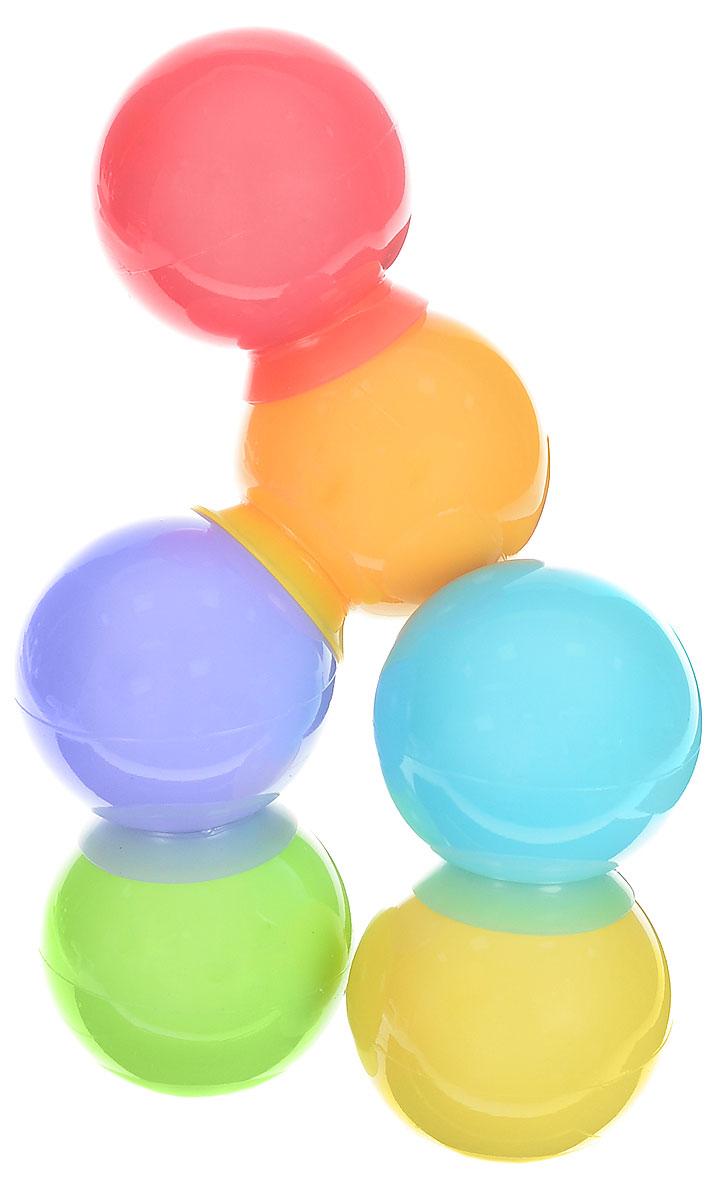 Happy Baby Набор игрушек для ванной IQ-Bubbles 6 шт32017Набор игрушек для ванной Happy Baby IQ-Bubbles превратит купание вашего ребенка в веселую игру. Игрушки изготовлены из безопасных материалов и подходят для детей с рождения. Разноцветные пузыри в виде шариков на присосках не только превратят процесс купания в удовольствие, но и помогут в развитии творческих и интеллектуальных способностей. С помощью присосок малыш может крепить яркие шарики к гладким поверхностям ванной комнаты или соединять между собой в разных вариациях! Игрушки стимулируют развитие у ребенка координации движений, мелкой моторики и зрительной координации.