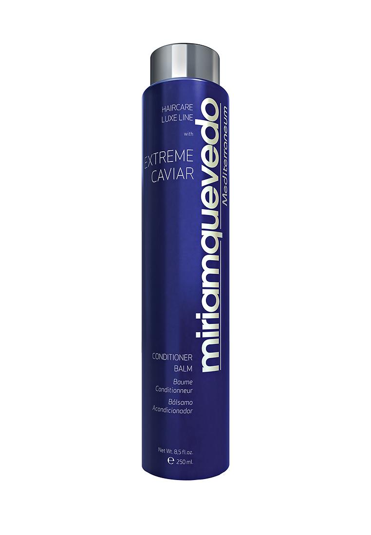 Miriam Quevedo Бальзам-кондиционер с экстрактом черной икры (Extreme Caviar Conditioner Balm) 250 млMQ343Средство по уходу за волосами с восстанавливающими свойствами содержит в себе экстракт черной икры, который богат липопротеинами, микроэлементами и витаминами. Они подарят силу и здоровье, предупредят процесс старения волос, оградят от сечения, раннего выпадения и нарушения работы сальных желез. п Бальзам придаст поврежденным и ослабленным волосам свежий и здоровый вид. Способ применения: после мытья волос нанесите бальзам массирующими движениями на кожу головы и распределите по всей длине. Подержите 5-10 минут и полностью смойте.