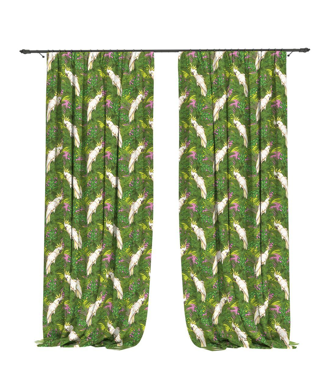 Комплект фотоштор Bellino Home Какаду, высота 260 см. 05491-ФШ-ГБ-00105491-ФШ-ГБ-001Комплект фотоштор BELLINO HOME, коллекция Тропики. Рожденный вдоль экватора тропический стиль смешивает множество культур и традиций в единое целое. Эта коллекция подобно котлу, в котором варятся туземные материалы, элегантная простота, экзотические мотивы и море солнечного света. Будто бы вечные каникулы: здесь замедляется время и замирает суета мегаполиса. Богатое разнообразие флоры и фауны способно преобразить атмосферу любого интерьера. Крепление на карниз при помощи шторной ленты на крючки. В комплекте: Портьера: 2 шт. Размер (ШхВ): 145 см х 260 см. Рекомендации по уходу: стирка при 30 градусах гладить при температуре до 150 градусов Изображение на мониторе может немного отличаться от реального.