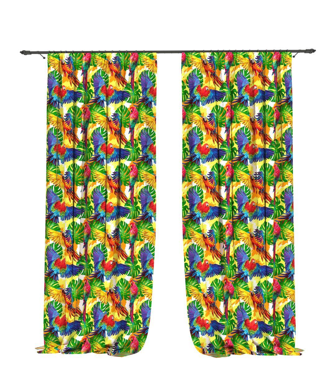 Комплект фотоштор Bellino Home Амазоны, высота 260 см. 05519-ФШ-ГБ-00105519-ФШ-ГБ-001Комплект фотоштор BELLINO HOME, коллекция Тропики. Рожденный вдоль экватора тропический стиль смешивает множество культур и традиций в единое целое. Эта коллекция подобно котлу, в котором варятся туземные материалы, элегантная простота, экзотические мотивы и море солнечного света. Будто бы вечные каникулы: здесь замедляется время и замирает суета мегаполиса. Богатое разнообразие флоры и фауны способно преобразить атмосферу любого интерьера. Крепление на карниз при помощи шторной ленты на крючки. В комплекте: Портьера: 2 шт. Размер (ШхВ): 145 см х 260 см. Рекомендации по уходу: стирка при 30 градусах гладить при температуре до 150 градусов Изображение на мониторе может немного отличаться от реального.