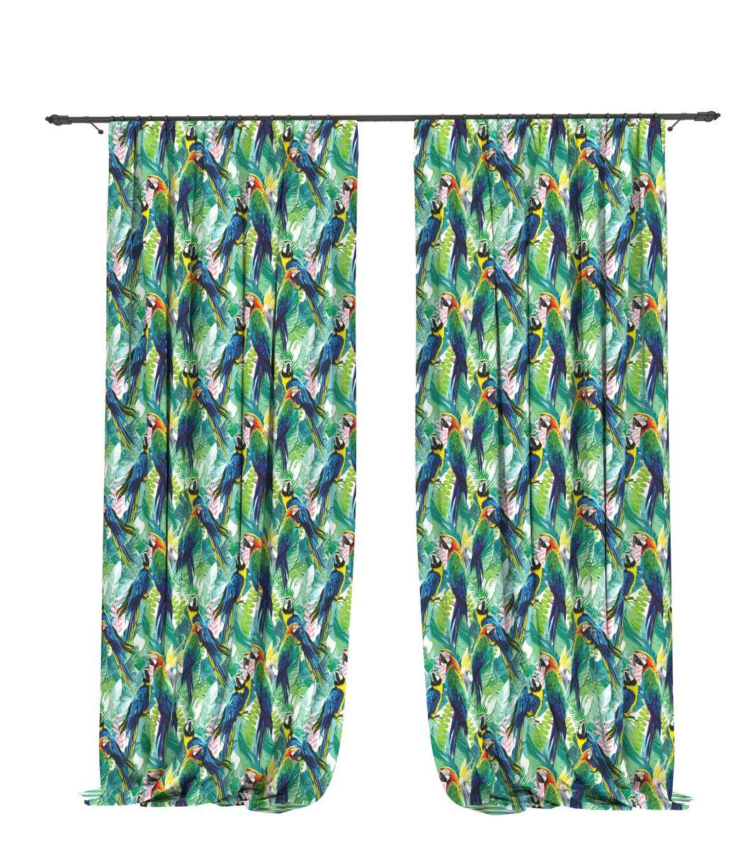 Комплект фотоштор Bellino Home Два попугая, высота 260 см. 05528-ФШ-ГБ-00105528-ФШ-ГБ-001Комплект фотоштор BELLINO HOME, коллекция Тропики. Рожденный вдоль экватора тропический стиль смешивает множество культур и традиций в единое целое. Эта коллекция подобно котлу, в котором варятся туземные материалы, элегантная простота, экзотические мотивы и море солнечного света. Будто бы вечные каникулы: здесь замедляется время и замирает суета мегаполиса. Богатое разнообразие флоры и фауны способно преобразить атмосферу любого интерьера. Крепление на карниз при помощи шторной ленты на крючки. В комплекте: Портьера: 2 шт. Размер (ШхВ): 145 см х 260 см. Рекомендации по уходу: стирка при 30 градусах гладить при температуре до 150 градусов Изображение на мониторе может немного отличаться от реального.