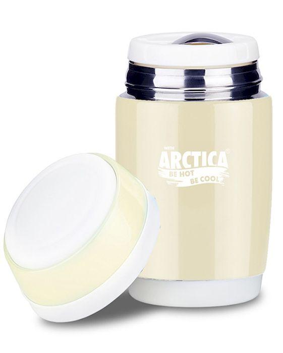 """Термос-бочонок """"Арктика"""", цвет: топленое молоко 580 мл, крышка-тарелка, 409-580 409-580 Арктика"""