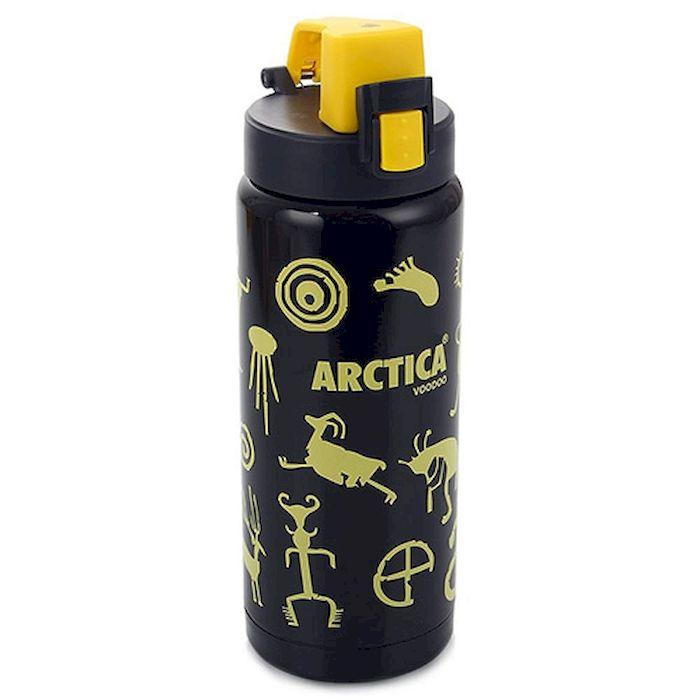 Термос-сититерм Арктика, цвет: черный-желтый, 500 мл, 702-500W702-500W АрктикаТермос-сититерм Арктика 702-500W (500мл). Универсальный термос для города, другими словами - сититерм, это новое поколение термосов созданный специально для активных городских людей. Сититерм Арктика 702 серии воплощает в себе максимум удобства и практичности и ориентирован на использование в любом месте и при любых условиях. Максимально компактный сититерм Арктика 702-500W вмещает в себя 500 мл жидкости, а технологичная система открывания надёжно защитит содержимое от случайного открытия и в то же время позволит владельцу открыть крышку одной рукой. Эта технология позволяет использовать термос даже находясь в движении в автомобиле или на велосипеде, делая этот компактный термос по истине универсальным. Более того, стильная форма корпуса идеально уместится в любом автомобильном подстаканнике или велосипедном бутылкодержателе, а стильное и яркое графическое исполнение, подарит хорошее настроение не только взрослым но и детям! Сититерм Арктика, это идеальное решение для каждого,...