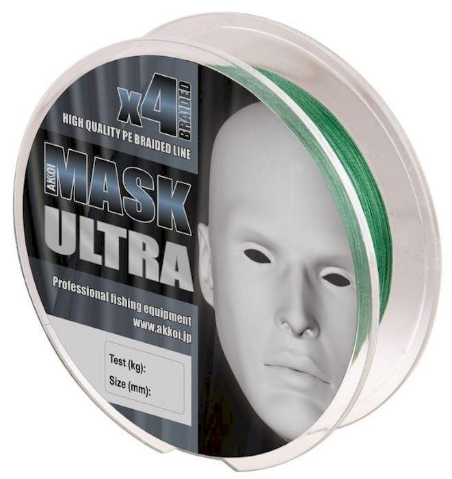 Леска плетеная (шнур) Akkoi Mask Ultra X4-100, цвет: зеленый (green), 4 нити, d0,14 мм, нагрузка 5,44 кгMU4G100-14Леска плетеная Akkoi Mask Ultra X4-100 (green) d0,14mm / 5,44 кг. Дословно ultra light переводится как – сверхлегкий. Этот класс ловли спиннингом очень популярен во всем мире. Во главе угла стоит уменьшение веса во всем: в удилище, катушке, приманках и снастях. Но, зачастую, бороться приходиться с трофейной рыбой, отсюда предъявляются повышенные требования к прочности и надежности снастей, а это ведет к высокой стоимости. Плетеный шнур Akkoi Mask Ultra создан с учетом всех требований этого класса. Материал Super PE с высокой плотностью плетения имеет специальную обработку для большего скольжения и максимально устойчив к абразивному воздействию. Шнур четырехжильный, в размотке 100 метров и двух вариациях цветов. Диапазон диаметров тоже разработан с учетом класса ловли ультралайт - лайт — от 0,06 до 0,20 мм. Ультралегкий, ультрапрочный, ультраклассный и ультрадоступный, но главное — имеет самое хорошее соотношение цена - качество в своем сегменте.