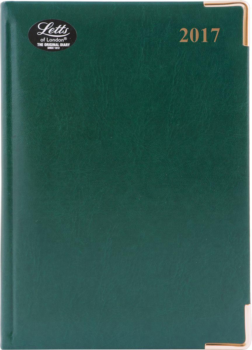 Letts Ежедневник Lexicon 2017 датированный 208 листов цвет зеленый412128250Прочный ежедневник Letts Lexicon 2017 - идеально подойдёт тем, кто ценит настоящую английскую классику. Ежедневник выполнен в твердом переплете из искусственной кожи, которую сложно отличить от натуральной. Позолоченный срез страниц, металлические уголки и золотое тиснение лицевой обложки ежедневника подчеркнут респектабельный стиль владельца. Каждая страница ежедневника имеет почасовую и календарную нумерацию. На каждый час отведено по 2 строчки, а в боковой части страницы находятся строчки для телефонных и почтовых заметок. На первых страницах ежедневника представлены место для заполнения личных данных владельца и информационный блок. Он включает национальные праздники стран, меры длины, веса и других величин, размеры одежды, международные коды, часовые пояса, аэропорты Европы и календарь с 2016 по 2018 год. В конце ежедневника представлена телефонная книга и фрагменты цветной карты мира. Ежедневники Letts Lexicon 2017 - это высочайшее качество, стиль,...