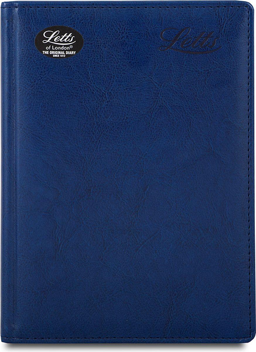 Letts Ежедневник Umbria недатированный 200 листов цвет синий412141320Прочный ежедневник Letts Umbria идеально подойдёт тем, кто ценит настоящую английскую классику. Ежедневник выполнен в твердом переплете из искусственной кожи, которую сложно отличить от натуральной. Позолоченный срез страниц, шелковая закладка-разделитель и перфорированные уголки подчеркнут респектабельный стиль владельца. Каждая страница ежедневника имеет почасовое деление. На каждый час отведено по 2 строчки, а в боковой части страницы находятся строчки для телефонных и почтовых заметок. На первых страницах ежедневника представлены место для заполнения личных данных владельца и информационный блок. Он включает национальные праздники Российской Федерации, меры длины, веса и других величин, размеры одежды, международные коды, часовые пояса и календарь с 2016 по 2023 год. В конце ежедневника представлена телефонная книга и фрагменты цветной карты мира. Ежедневники Letts Umbria - это высочайшее качество, простота, удобство и функциональность.