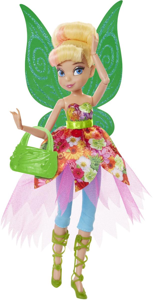 Disney Fairies Кукла Pixie Prints Фея Динь-Динь956660Кукла Disney Fairies Фея Динь-Динь создана специально для поклонниц мультфильма Феи Дисней. Она одета в яркий, красочный наряд и выглядит очень эффектно. У феи красивые густые волосы, убранные в изящную прическу, большие, невероятно выразительные глаза и милое улыбчивое личико. Фея Динь-Динь обожает мастерить, у нее пытливый ум, она обожает узнавать что-то новое. У Динь-Динь взбалмошный характер: вспыльчивая и злопамятная с одной стороны, она в тоже время очень общительна и всегда придет на помощь своим друзьям, если те попадут в какую-нибудь переделку. У куклы подвижны руки и ноги, сгибаются кисти и локти, благодаря чему она может принимать самые изящные позы. К кукле прилагается изящная сумочка.