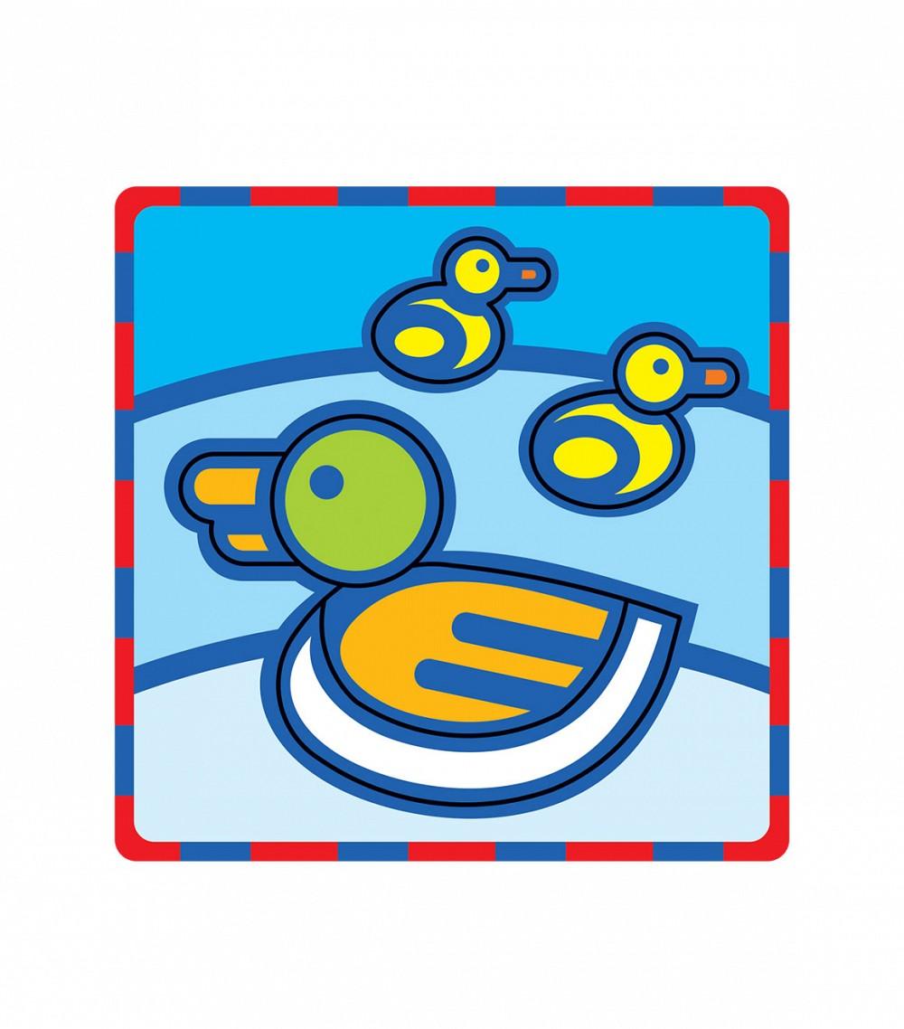Умная бумага Мягкий конструктор Уточка166-01Поможет развить у ребенка чувство формы, размера, цвета и симметрии по принципу – от простого к сложному. Все детали вырублены. Материал: картон + мягкий полимер (пенополиэтилен 8 мм). Для самых маленьких. Разработано по рекомендациям методистов и детских психологов.