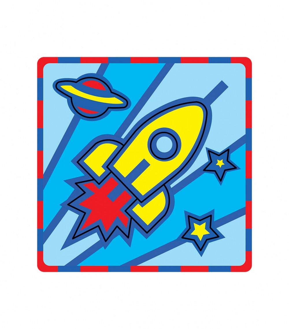 Умная бумага Пазл для малышей Ракета166-03Мягкий пазл Ракета от компании Умная бумага - это пазл-рамка для малышей. Все детали заранее вырублены. За основу взят мягкий полимер и картон, детали очень легкие, приятные на ощупь и безопасные. Сама картинка, и творческий процесс очень понравятся малышу. Для удобства маленьких ручек производители специально сделали так, чтобы все элементы укладывались в рамку. Так игровой процесс не будет затруднительным даже для самого маленького ребенка.