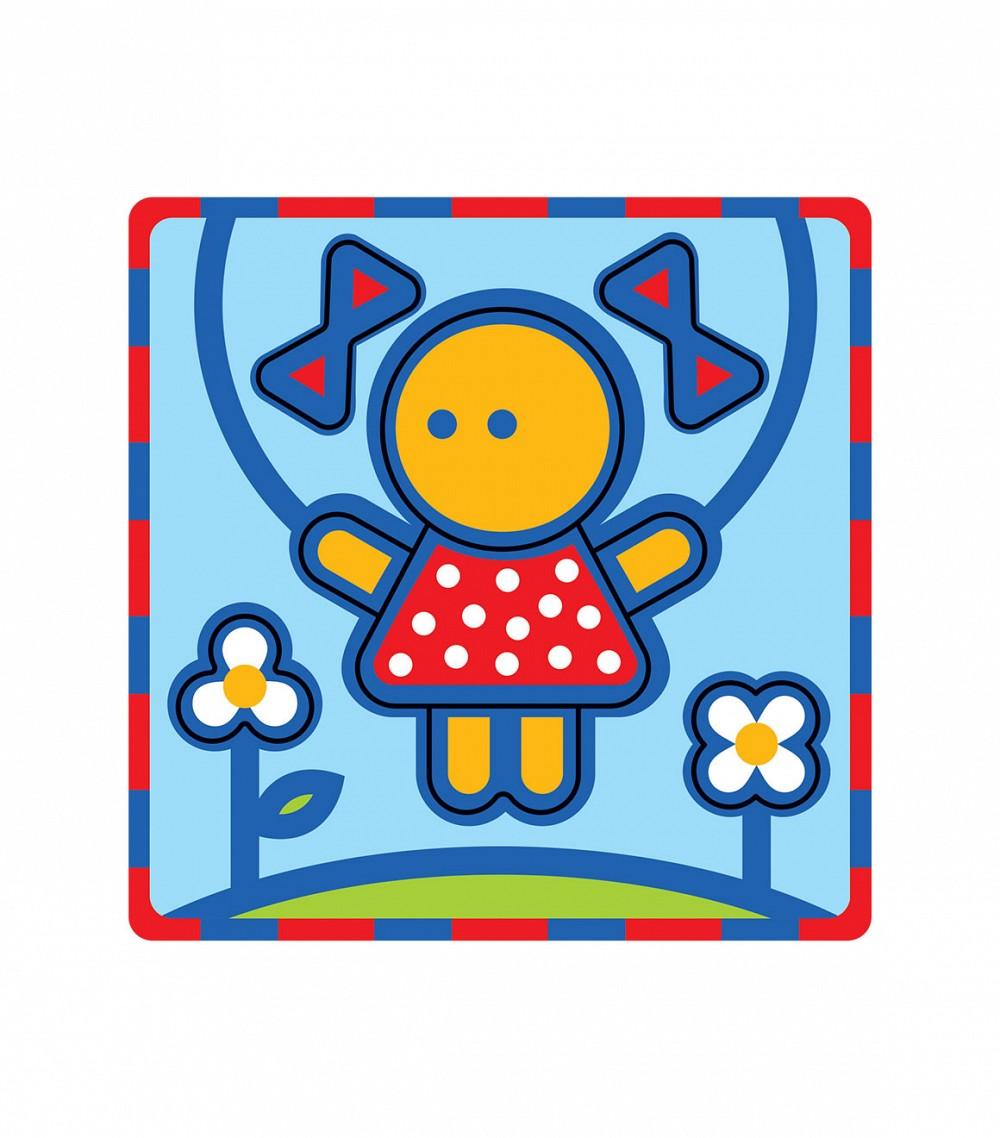 Умная бумага Пазл для малышей Девочка166-10Мягкий пазл Девочка от компании Умная бумага - это пазл-рамка для малышей. Все детали заранее вырублены. За основу взят мягкий полимер и картон, детали очень легкие, приятные на ощупь и безопасные. Сама картинка, и творческий процесс очень понравятся малышу. Главное - объяснить ему принцип соединения элементов. Кроме того, для удобства маленьких ручек производители специально сделали так, чтобы все элементы укладывались в рамку. Так игровой процесс не будет затруднительным даже для самого маленького ребенка.