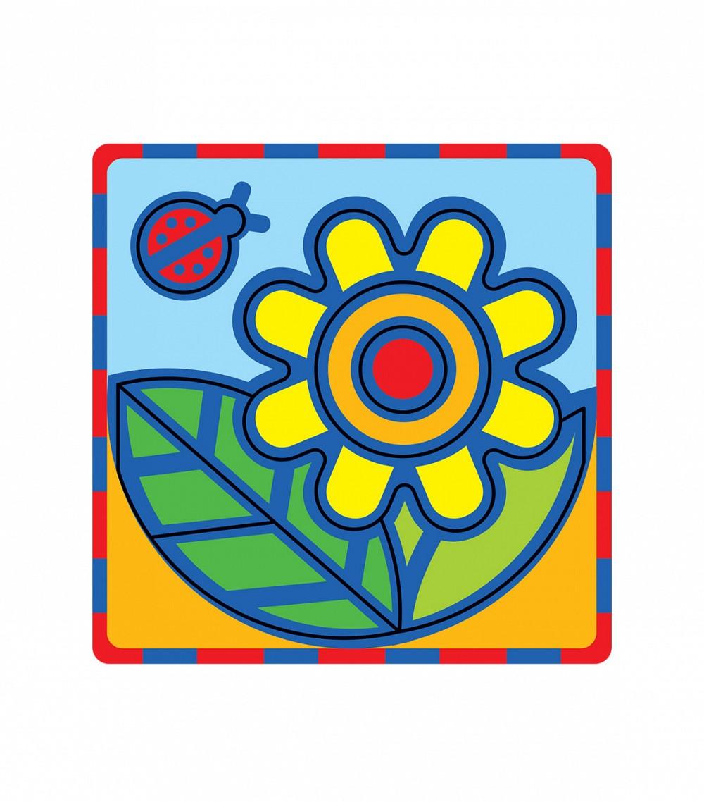 Умная бумага Мягкий конструктор Цветок166-12Поможет развить у ребенка чувство формы, размера, цвета и симметрии по принципу – от простого к сложному. Все детали вырублены. Материал: картон + мягкий полимер (пенополиэтилен 8 мм). Для самых маленьких. Разработано по рекомендациям методистов и детских психологов.