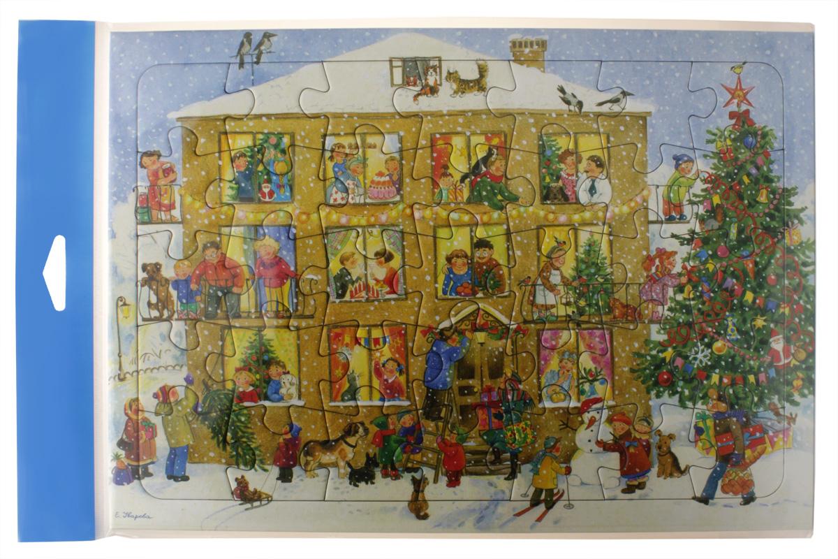 Умная бумага Пазл для малышей Домик4627081551502«Домик» - это великолепный пазл-рамка, который может быть куплен любимому малышу в качестве подарка от Деда Мороза на Новый год - самый волшебный из всех существующих праздников. .Картинка складывается из 35 элементов, изготовленных из очень хорошего по качеству картона. Яркое изображение, которое предстоит собрать малышу, представляет собой картинку на новогоднюю тематику. На ней нарисован дом, в каждом окошке которого изображены детвора и взрослые, готовящиеся ко встрече долгожданного праздника. Все они нарядно одеты и находятся в процессе завершения подготовки. И сама картинка, и творческий процесс очень понравятся малышу. Главное - объяснить ему принцип соединения элементов. Кроме того, для удобства маленьких ручек производители специально сделали так, чтобы все элементы укладывались в рамку. Так игровой процесс не будет затруднительным даже для самого маленького ребенка. Возраст: от 18 месяцев Материал: картон Размеры: 20х28 см Количество деталей: 35 шт.