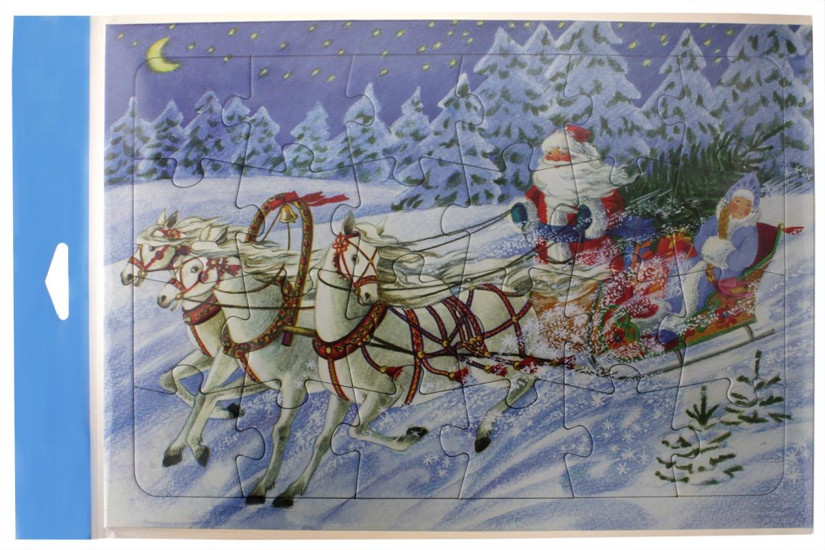 Умная бумага Пазл для малышей Тройка Деда Мороза4627081551601«Тройка Деда Мороза» - это великолепный пазл-рамка с классическим новогодним изображением. Такая игрушка может быть подарена даже самому маленькому крохе, начиная от полутора лет и старше. Главное - объяснить малышу принцип соединения элементов и помочь ему в выполнении задания. Картинка состоит из 24 деталей. Каждая выполнена из очень качественного картона. Все элементы укладываются в рамку. Это было сделано для того, чтобы картинка хорошо фиксировалась и не скользила по поверхности, что могло бы создать дискомфорт для малыша. Во время увлекательного, творческого процесса ребенок проявит внимательность и станет более усидчивым. А получившееся впоследствии новогоднее изображение с Дедом Морозом и Снегурочкой создаст теплую и радостную предпраздничную атмосферу в доме. Материал: картон Размеры: 20х28 см Количество деталей: 24шт.