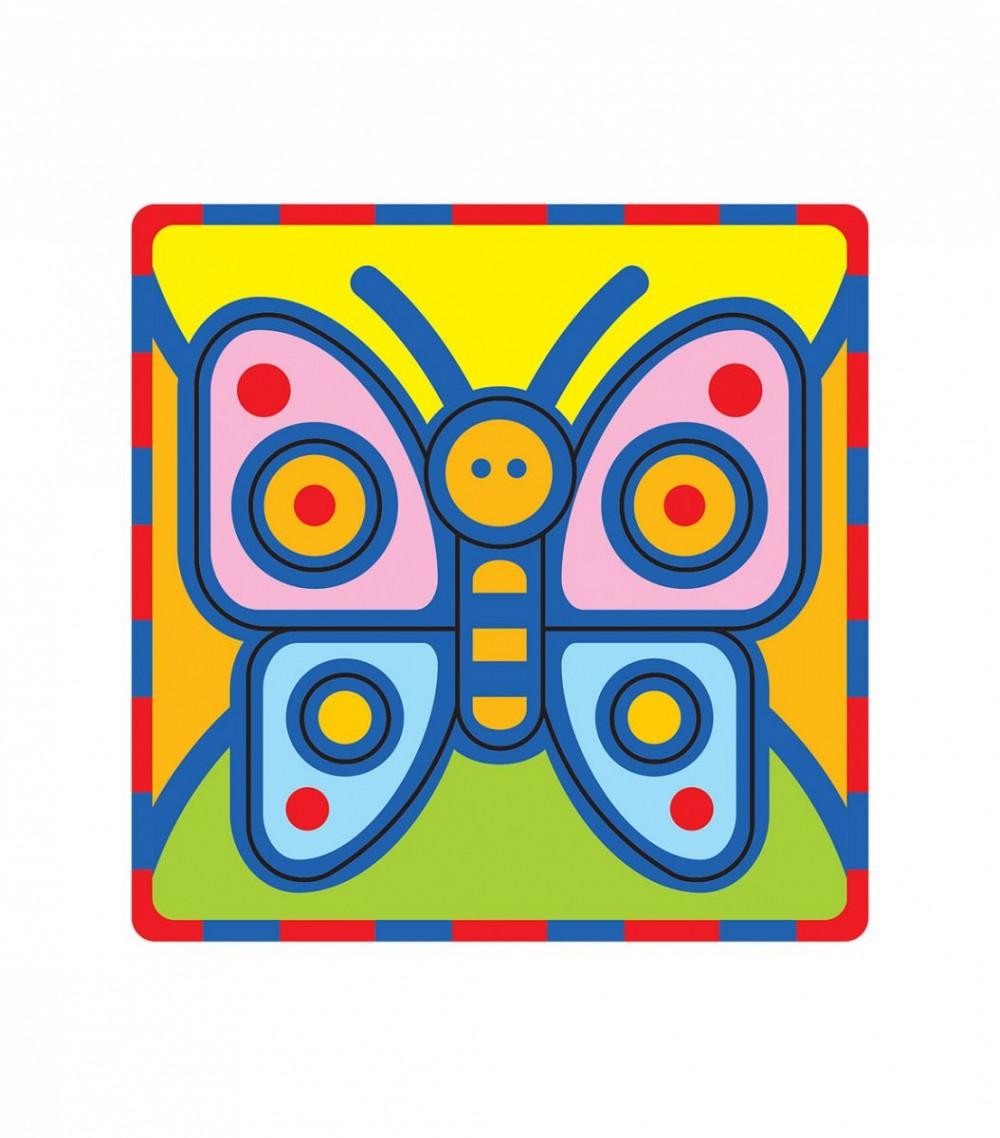 Умная бумага Мягкий конструктор Мотылек166-08Поможет развить у ребенка чувство формы, размера, цвета и симметрии по принципу – от простого к сложному. Все детали вырублены. Материал: картон + мягкий полимер (пенополиэтилен 8 мм). Для самых маленьких. Разработано по рекомендациям методистов и детских психологов.