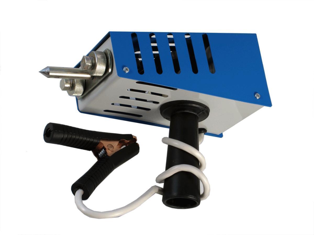 Нагрузочная вилка для проверки Орион АКБ НВ-04, электронная, 100А, 2/12/24В2004НАЗНАЧЕНИЕ Нагрузочная вилка предназначена 1. для определения степени заряженности и исправности тяговых и автомобильных аккумуляторных батарей с номинальным напряжением 24 вольта, а также аккумуляторов с номинальным напряжением 12 В; 2. для проверки одного элемента аккумуляторной батареи; 3. а также для проверки исправности генератора бортовой сети с помощью высокоточного вольтметра. ТЕХНИЧЕСКИЕ ХАРАКТЕРИСТИКИ Номинальное напряжение АБ: 24В; 12В Номинальное напряжение элемента АБ: 2 В Емкость тестируемых АБ: 15-240 А-ч Диапазон вольтметра: 0-32 В Точность: 0,5% Номинальное сопротивление: спираль 24 В: 0,2 Ом ± 5% спираль 2 В: 0,02 Ом ± 5% Ток нагрузки: при ном. напряж. 2 В, 24 В: 100 А при ном. напряж. 12 В: 50 А Рабочий диапазон температур: –30°С – +60°С Время измерения: спирали подключены: не более 9 сек. спирали отключены: не ограничено ОСОБЕННОСТИ Нагрузочная вилка НВ-04 имеет две...