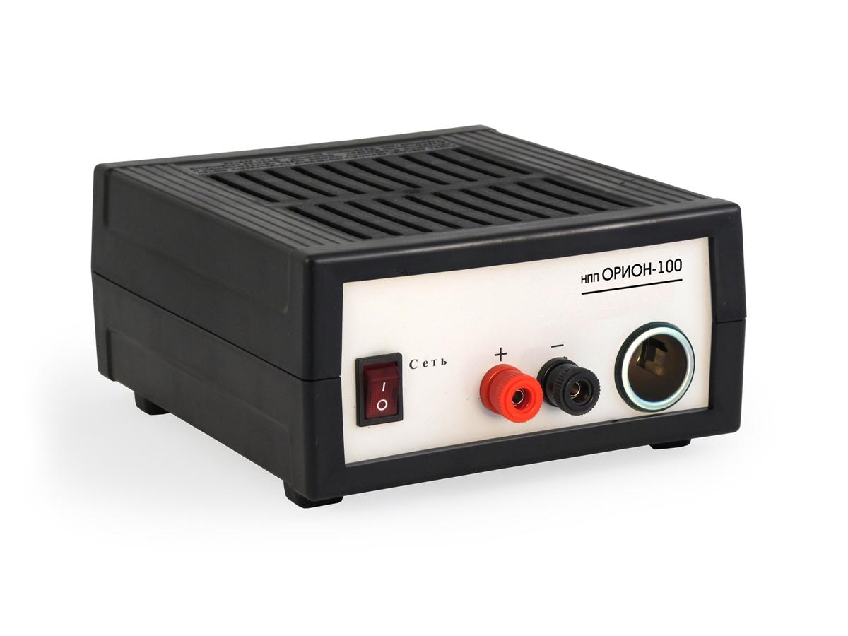 Зарядное устройство НПП Орион-100, 0-20А, 12В2015НАЗНАЧЕНИЕ Источник питания Орион PW 100 является эквивалентом бортовой цепи автомобиля с работающим двигателем ТЕХНИЧЕСКИЕ ХАРАКТЕРИСТИКИ -Выходной ток до 15 А -Максимальная выходная мощность 210 В -Выходное напряжение в режиме стабилизации напряжения 14,2 В -Выходное напряжение в режиме стабилизации тока 0 - 14,2 В -Диапазон рабочих температур –10°С – +40°С -Масса 1 кг -Габариты 155мм х 85мм х 200мм