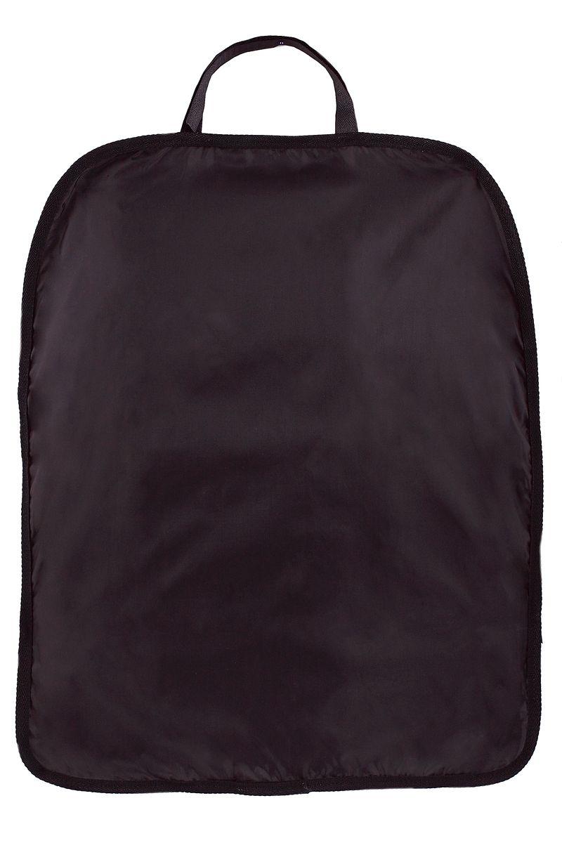 Накидка для спинки сиденья Comfort Adress, цвет: черный, 60 см х 48 смdaf 014Накидка Comfort Adress, выполненная из непромокаемой ткани ПВХ 250D, защитит спинку переднего сидения автомобиля от влаги и грязи. Накидка крепится к сидению с помощью петли на липучке и резинки.
