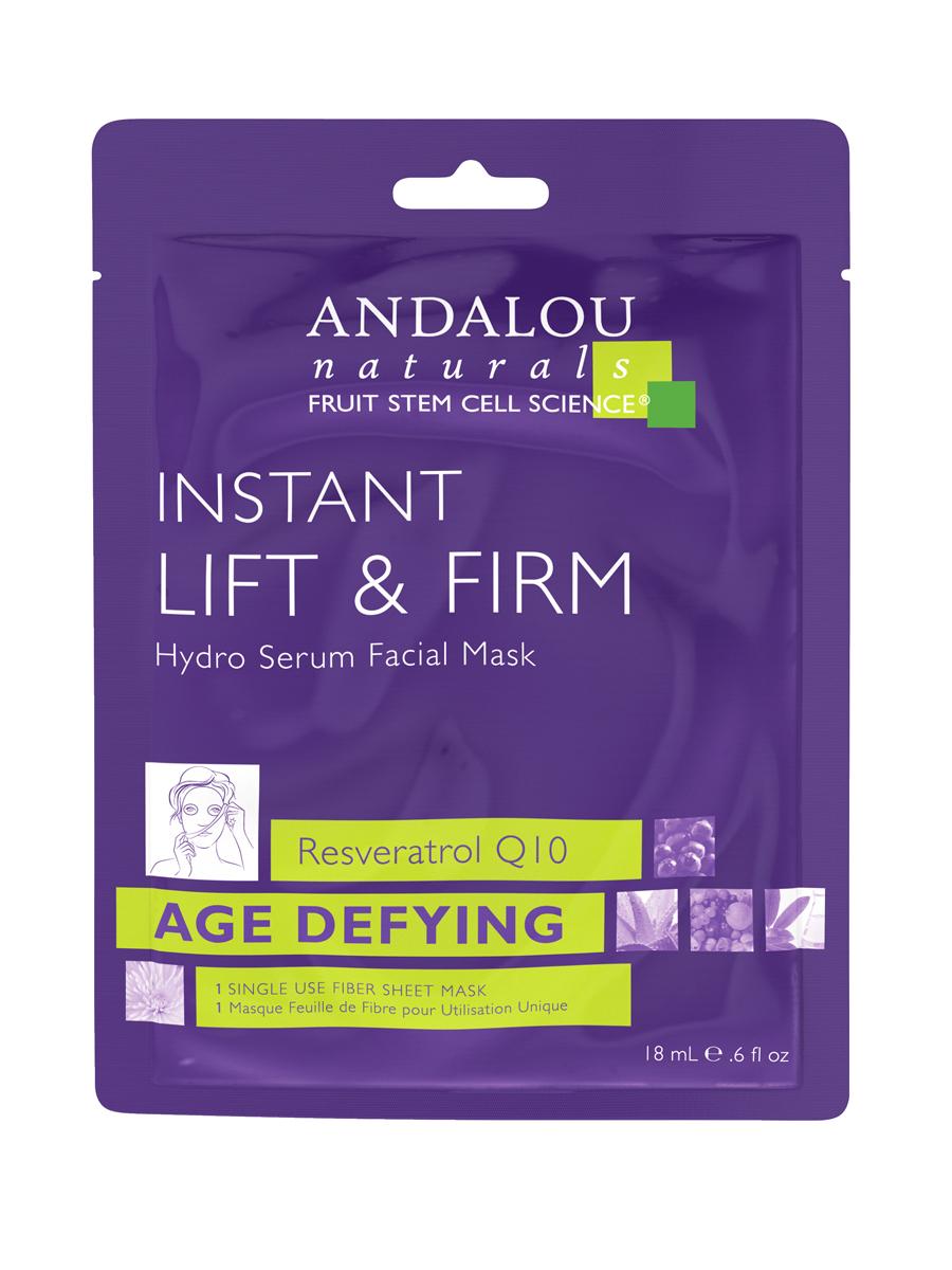 ANDALOU Маска-сыворотка для лица подтягивающая Мгновенный лифтинг, 6 шт x 18 мл25410Анти-эйдж маска-сыворотка, обогащенная стволовыми клетками фруктов и комбинацией Ресвератрола и Коэнзима Q10 мгновенно увлажняет и успокаивает кожу, уменьшает морщины, делает кожу подтянутой и визуально гладкой.