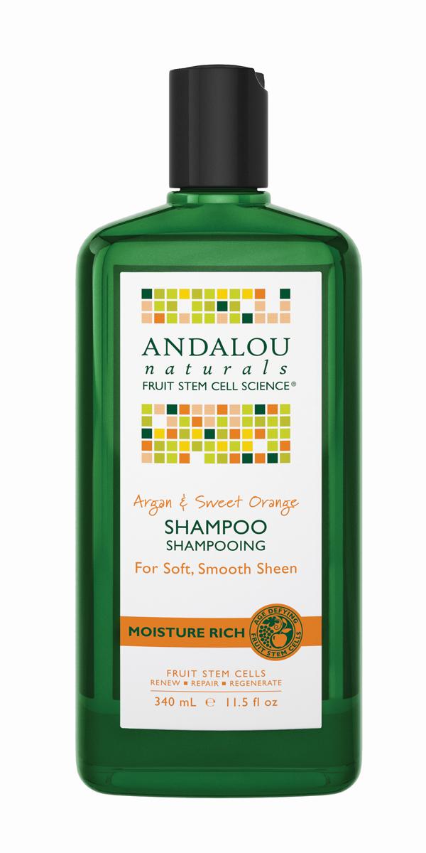 Andalou Шампунь для увлажнения волос Арган и сладкий апельсин,340 мл27102Шампунь для мягкости, гладкости и блеска волос. Комплекс фруктовых стволовых клеток и Аргановое масло глубоко питают и увлажняют, масло Ши поддерживает упругость, улучшает прочность и облегчает укладку волос. Экстракт сладкого Апельсина придает локонам блеск, питает витаминами , увлажняет. Шампунь улучшает внешний вид секущихся кончиков и вьющихся волос. В результате Вы получаете заметно мягкие, гладкие волосы с потрясающим блеском. Посеченные кончики исчезнут, волосы по всей длине станут сильными, упругими и блестящими.