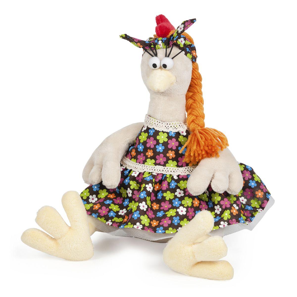 Maxi Toys Мягкая игрушка Курочка в сарафане 28 смMT-TSA-8309-28