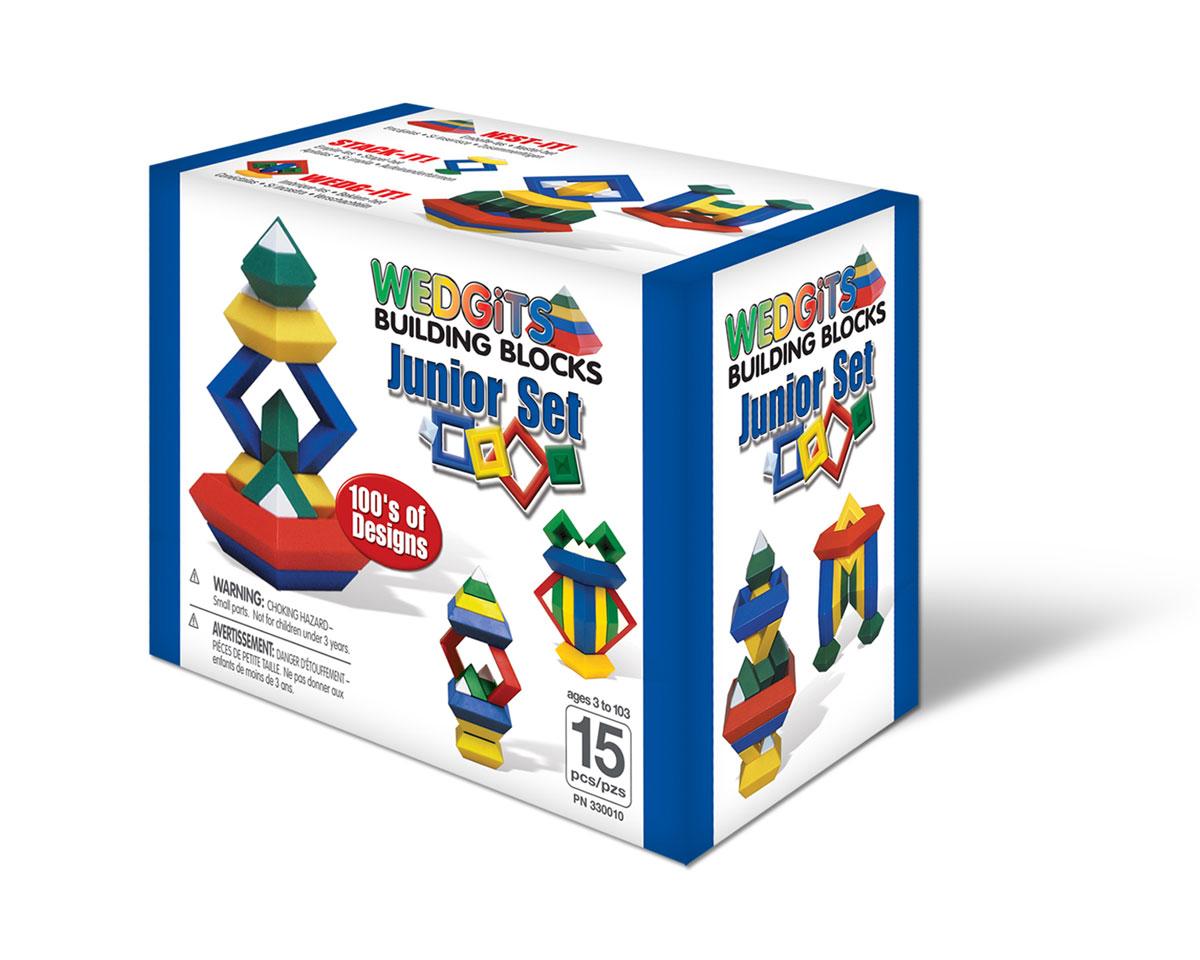 Wedgits Конструктор Начальный набор330010Начальный набор WEDGITS. Детали имеют правильную геометрическую форму, идеально стыкуются, ставятся друг на друга как вертикально так и горизонтально, тем самым образуя тысячи неповторимых конструкций. WEDGITS бросают вызов воображению и креативности. Играть в них одно удовольствие, как в группе так и индивидуально. Это не просто игрушка – это еще и развивающее игровое пособие! Конструктор WEDGITS на протяжении многих лет признается «Лучшей детской игрушкой» в США. Рекомендуется детям от 3-х лет. Количество деталей : 15 шт + буклет с моделями для сборки.