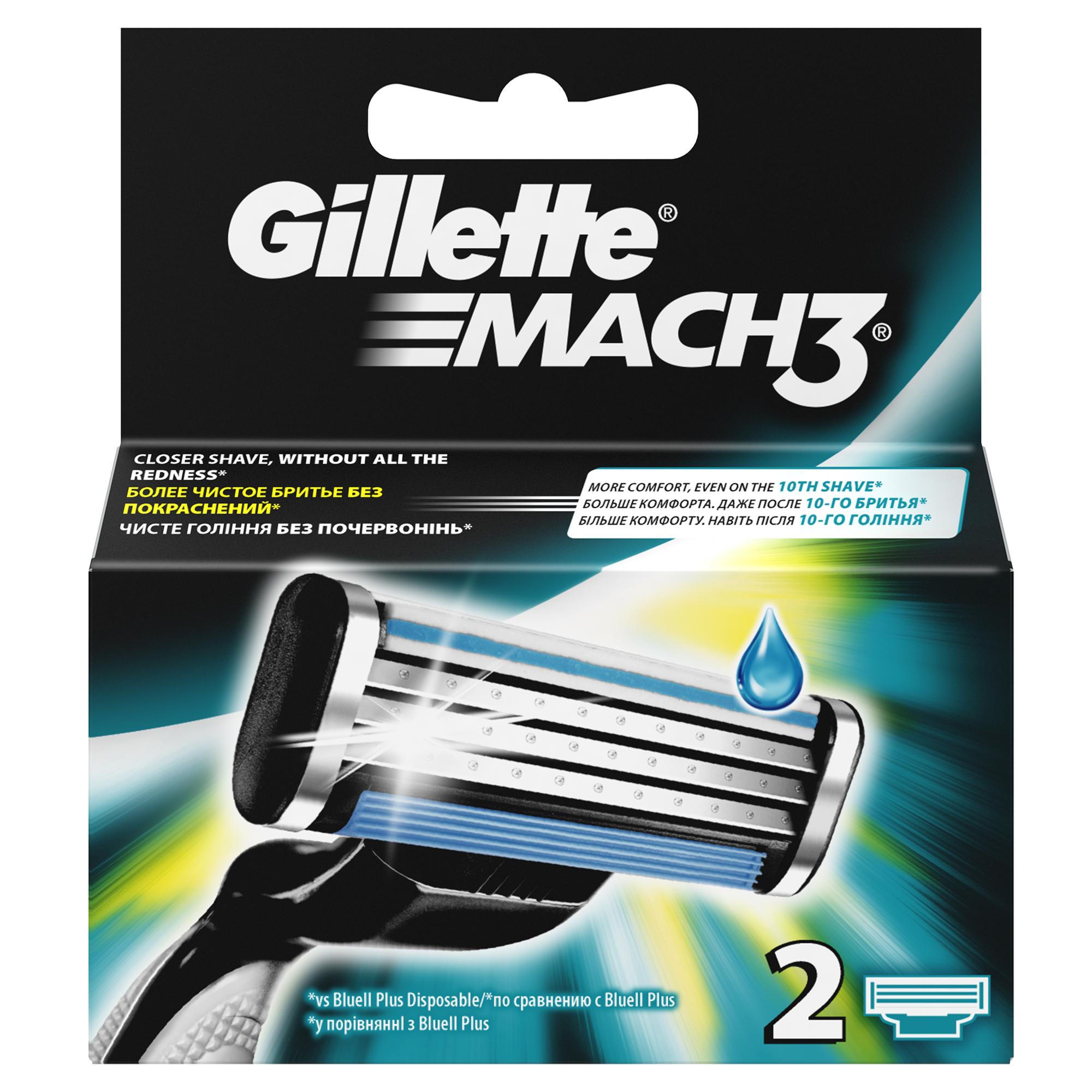Сменные кассеты для бритья Gillette Mach 3, 2 шт.MAG-81540655Сменные кассеты для мужской бритвы Gillette Mach3 обеспечивают гладкое бритье без покраснения кожи, а ощущения даже при 10-м их использовании лучше, чем при бритье новой одноразовой бритвой.* В комплект каждой сменной кассеты входят 3 лезвия DuraComfort для долговременного комфорта. Гелевая полоска скользит по коже, защищая ее от покраснения, а усовершенствованный микрогребень Skin Guard помогает натянуть кожу и подготовить волоски к срезанию. Эти сменные кассеты для бритвы Mach3 подходят к любой бритве Mach3. * По сравнению с Gillette Blue II Преимущества продукта: Даже 10-ое бритье Mach3 комфортнее 1-го одноразовой бритвой (по сравнению с Gillette Blue II Plus) Более гладкое бритье без раздражения (по сравнению с одноразовой бритвой Gillette Blue II Plus) 3 лезвия DuraComfort для долговременного комфорта Гелевая полоска скользит по коже, защищая ее от покраснения Усовершенствованный микрогребень Skin Guard помогает натянуть кожу и подготовить волоски к срезанию Подходит к любым...