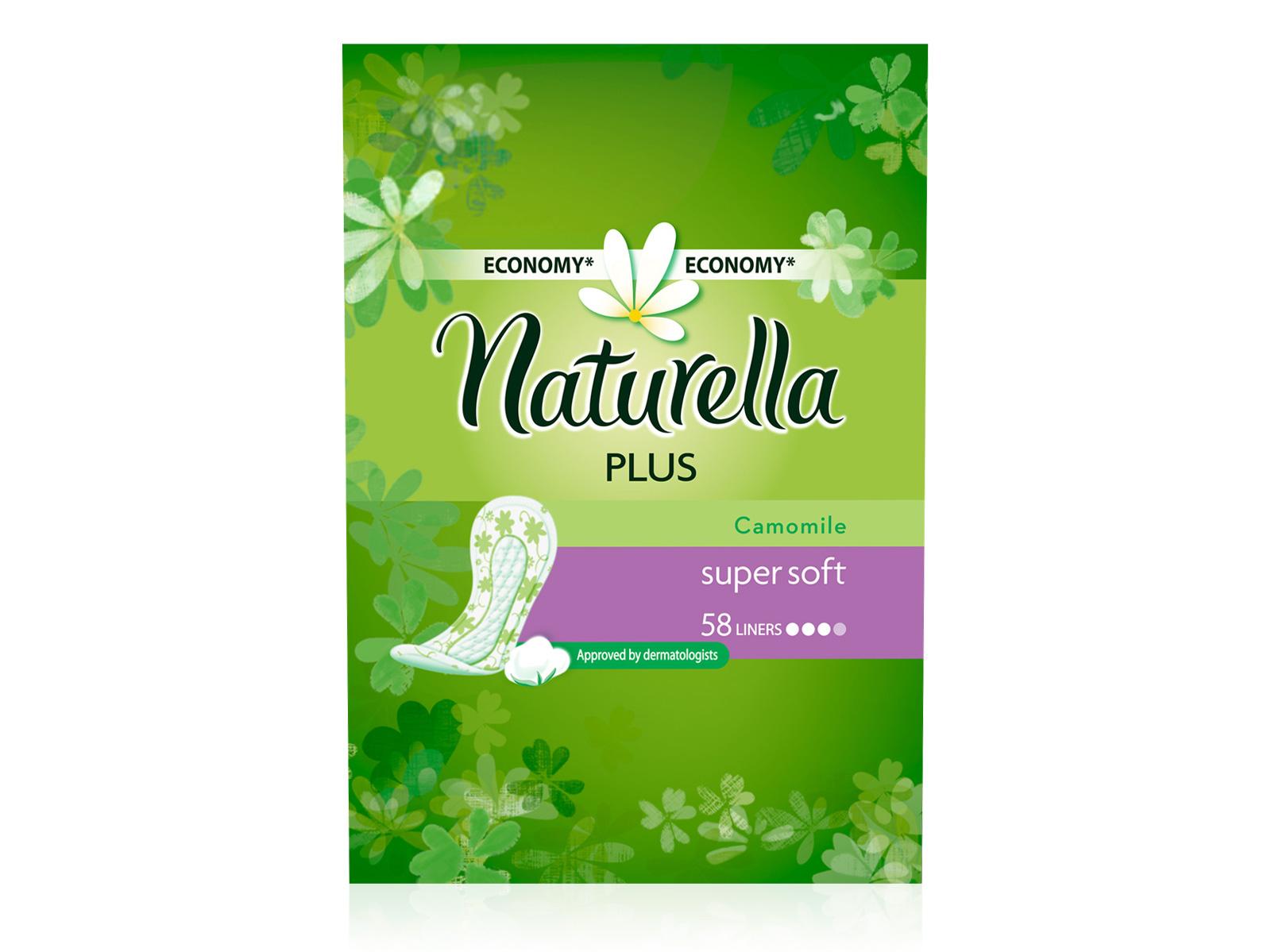 Naturella Женские гигиенические прокладки на каждый день Camomile Plus Trio 58шт NT-83730614