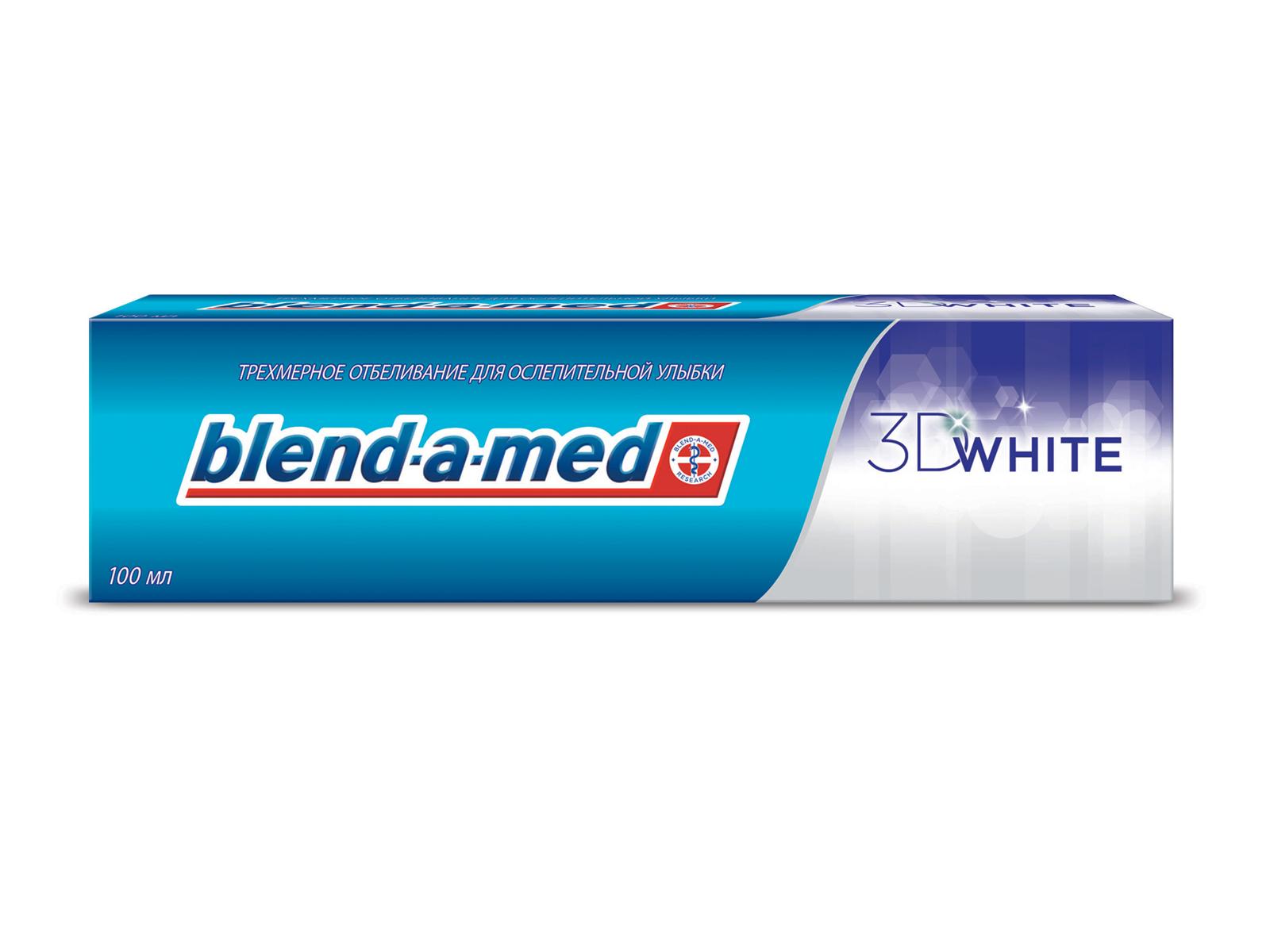 Blend-a-med Зубная паста 3D White, 100 млBM-81535312Трехмерное отбеливание для безупречной улыбки! Белоснежная улыбка за 14 дней? С пастой Blend-a-med 3D White это возможно. Отбеливание происходит за счет специальных отбеливающих частиц, которые во время чистки проникают в труднодоступные места. Эффективный и мягкий путь позволит очистить зубы от налета, создавая эффект идеально белых зубов в трех измерениях