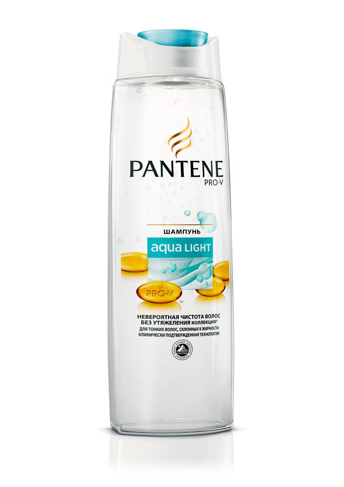 Pantene Легкий питательный шампунь Aqua Light для тонких склоных к жирности волос 250мл (Pantene Pro-V)
