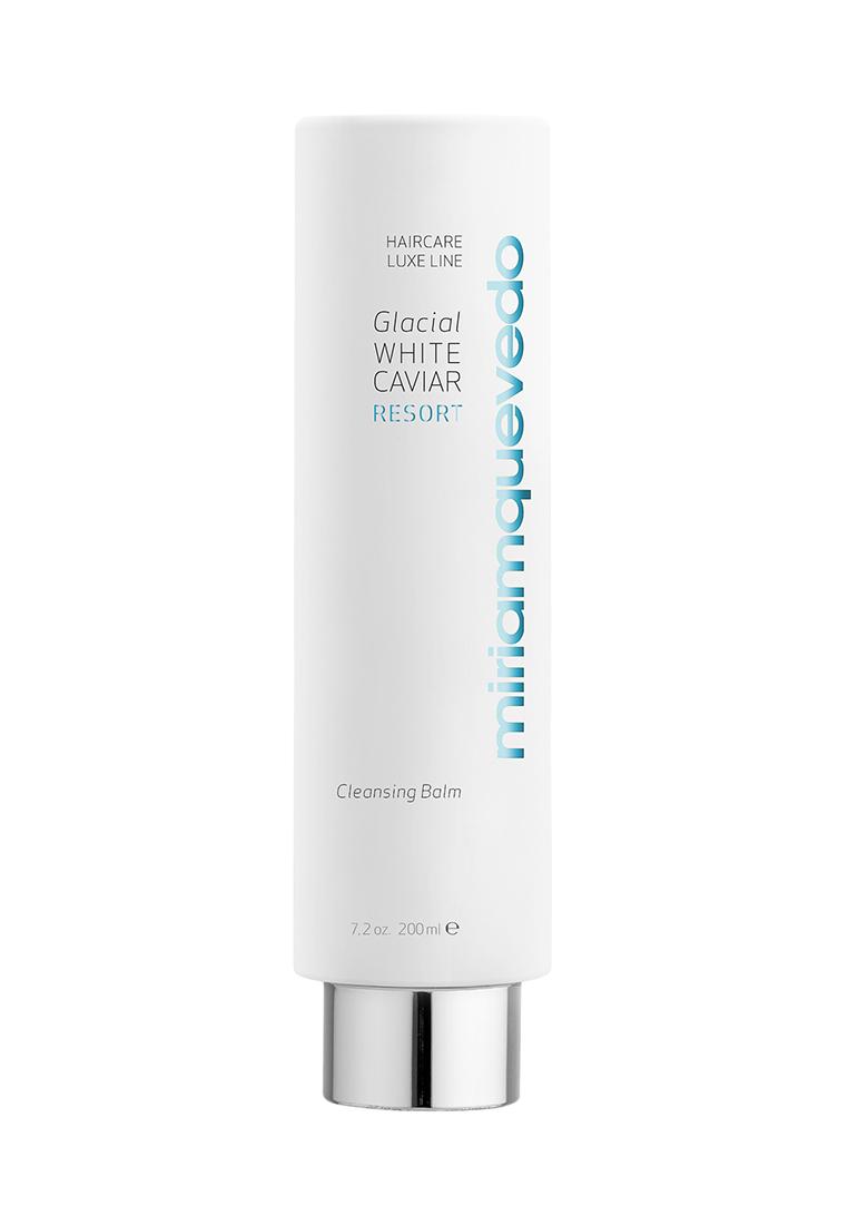 Miriam Quevedo Очищающий бальзам для волос с экстрактом прозрачно-белой икры (Glacial White Caviar Resort Cleansing Balm) 200 млMQ344Обладая беспрецендентным увлажняющим и омолаживающими свойствами, средство деликатно очищает волосы и кожу головы от органических и внешних загрязнений, включая песок,моркую соль и хлор. Успокаивает и расслабляет кожу головы, устраняет ощущение дискомфорта. Ценные масла и растительные экстракты интенсивно восстанавливают липидный слой волос и обеспечивают эффективную защиту от негативного воздействия свободных радикалов.