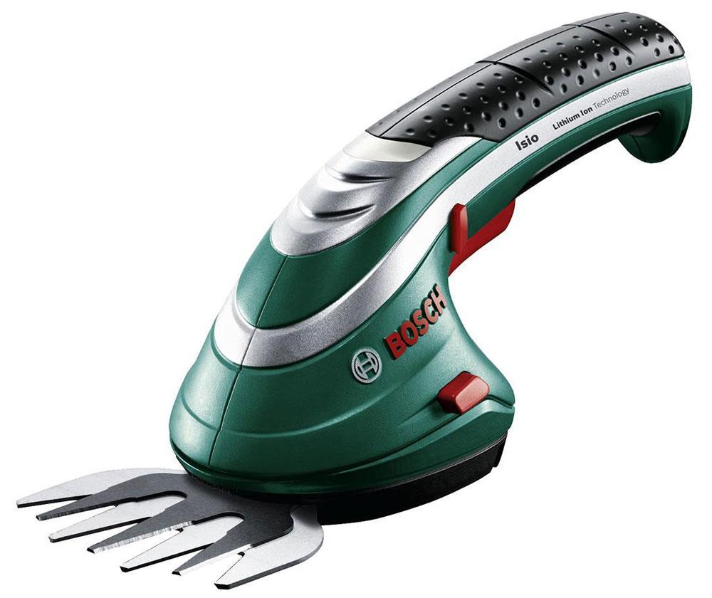 Аккумуляторные ножницы для травы Bosch ISIO 3 + штанга 06008331050600833105Аккумуляторные ножницы для травы Bosch ISIO 3 - компактный и легкий инструмент для комфортной работы в саду. Надежность и высокая мощность: благодаря литиево-ионному аккумулятору и антиблокировочной системе вы сможете работать без перерыва в течение 50 минут на одной зарядке аккумулятора. Данная модель оснащена удобным 4-ступенчатым светодиодным индикатором заряда и антиблокировочной системой. Это предотвращает блокировку ножниц и обеспечивает комфортную работу без остановки. Простая замена насадок обеспечивается благодаря системе SDS. Ножницы работают от аккумулятора 1,5 Ач до 50 минут. В комплект входит телескопическая штанга с регулировкой длины, а также переставляемой по горизонтали и вертикали головкой и съемными колесами. Время зарядки аккумулятора: 3,5 ч Тип аккумулятора: литий-ионный