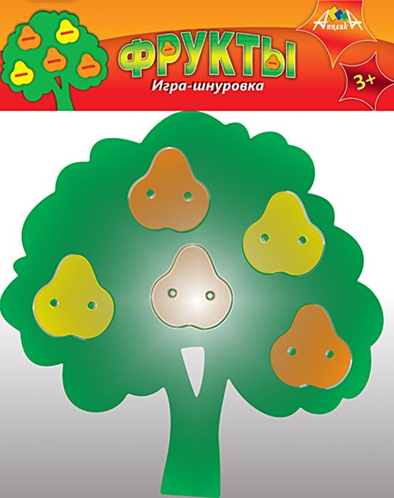 АппликА Игра-шнуровка ГрушиС2570-03Развивающая игра для детей. Предназначена для развития мелкой моторики. Состав набора - вырубленная основа и элементы композиции из мягкого пластика, цветные шнурки.