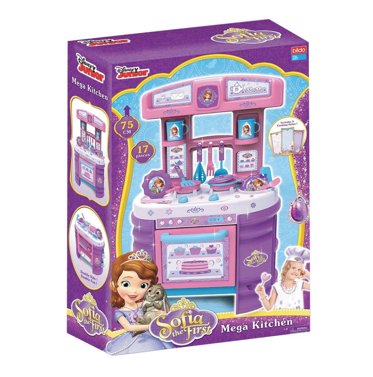 BILDO Игровая кухня большая Принцесса СофияB 8508B 8701 Игровая кухня большая Холодное сердце