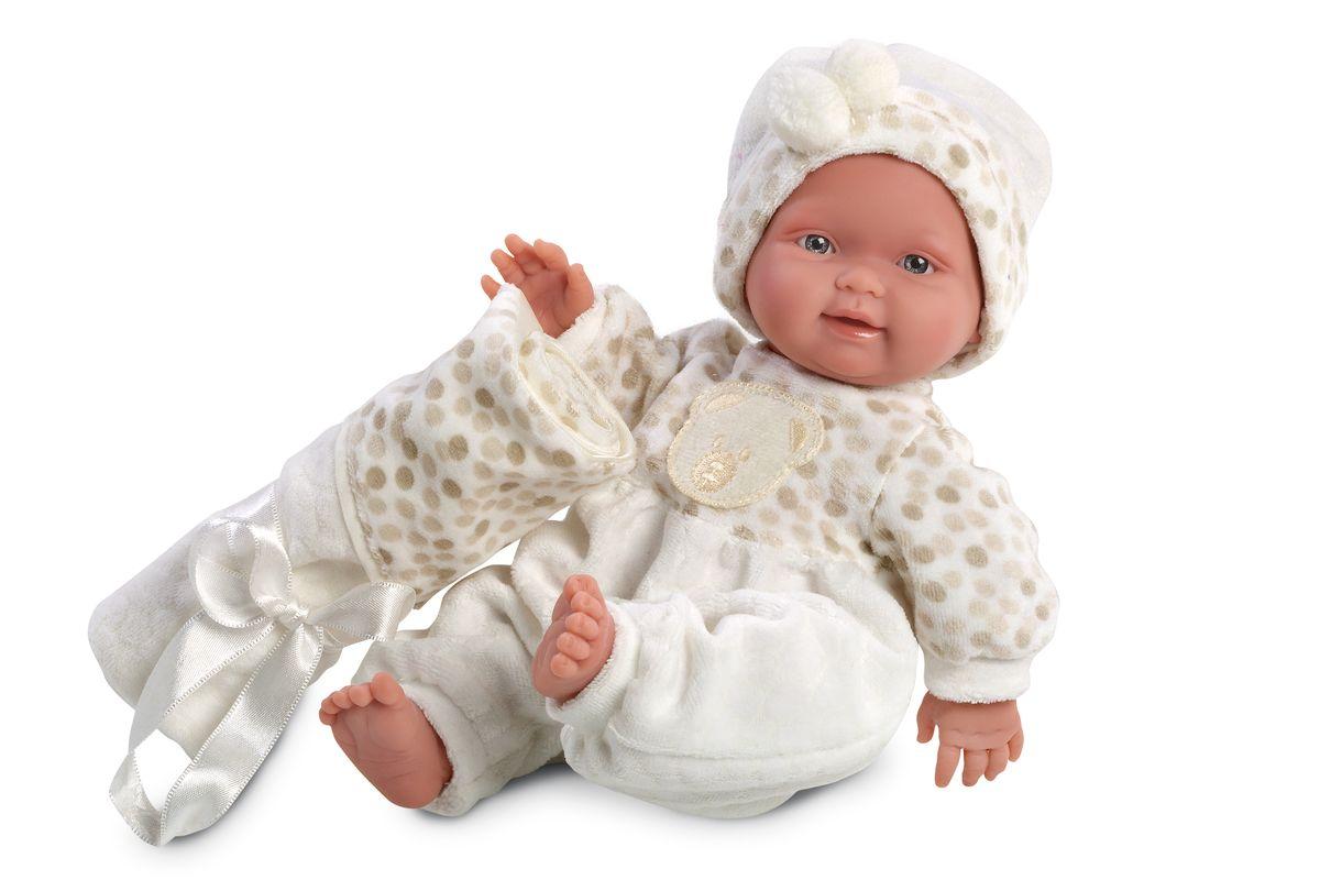 Llorens Кукла Бэбито c одеялом 26 смL 26258Кукла из ПВХ, без механизмов и звуковых эффектов. Кукла одета в светлый комбинезон и шапочку. В комплекте имеется одеяльце. Глазки у куклы не закрываются. Волосы прошиты по всей голове. Упакована в подарочную упаковку.