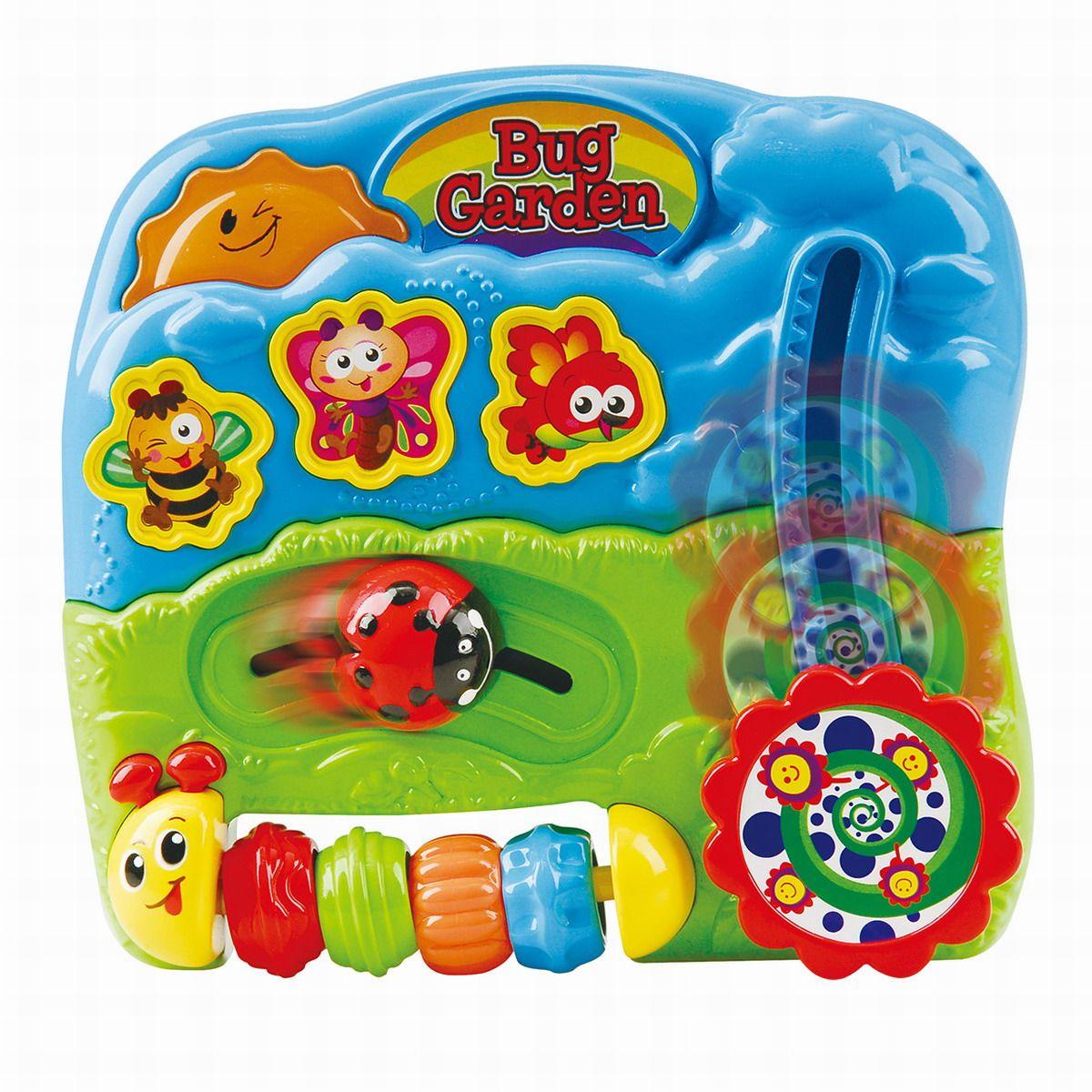 Playgo Развивающая игрушка Сад букашекPlay 1008Play 1008 Развивающая игрушка Сад букашек со световыми и звуковыми эффектами.Комплексное развитие слуха и осязания! Изучай мир в игре! Упаковка: Картонная коробка, презентационно-открытая. Материал : пластмасса. Перед применением протереть игрушку мягкой салфеткой. Питание: 2 батареи АА (входят в комплект). Размеры упаковки Ш*Г*В: 21,7 см*5,7 см*20,5 см. Размер игрушки Ш*Г*В: 15,8 см*4,5 см*15,0 см. Возраст: 6 m+ Страна производитель :PlayGo (Китай).