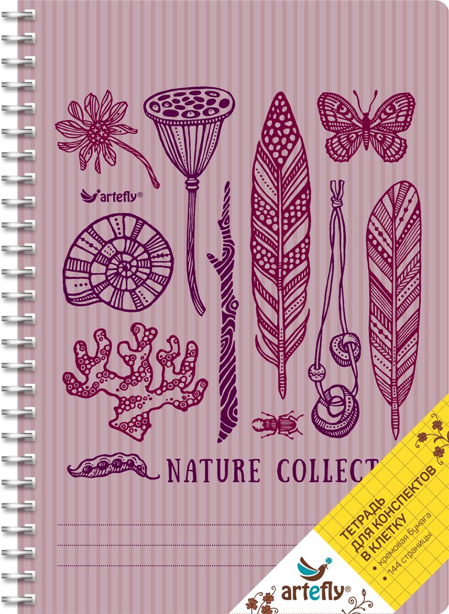 Artefly Тетрадь Nature Collection 72 листа в клеткуAFNB-AN2-VI-SQТетрадь в клетку для ведения записей. Красивая и яркая обложка раскрасит твои студенческие будни, такую тетрадь удобно использовать для конспектов. Приятная бумага кремового цвета не оставит тебя равнодушным.
