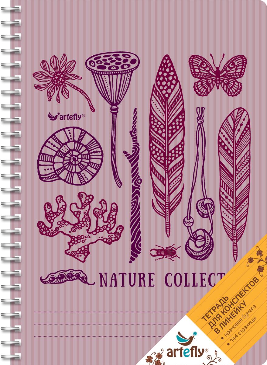 Artefly Тетрадь Nature Collection 72 листа в линейкуAFNB-AN2-VIТетрадь Artefly Nature Collection предназначена для ведения записей. Ее удобно использовать для конспектов. Красивая и яркая обложка с закругленными углами раскрасит студенческие будни. Внутренний блок представлен 72 листами и скреплен спиралью. Приятная бумага кремового цвета в линейку никого не оставит равнодушным.