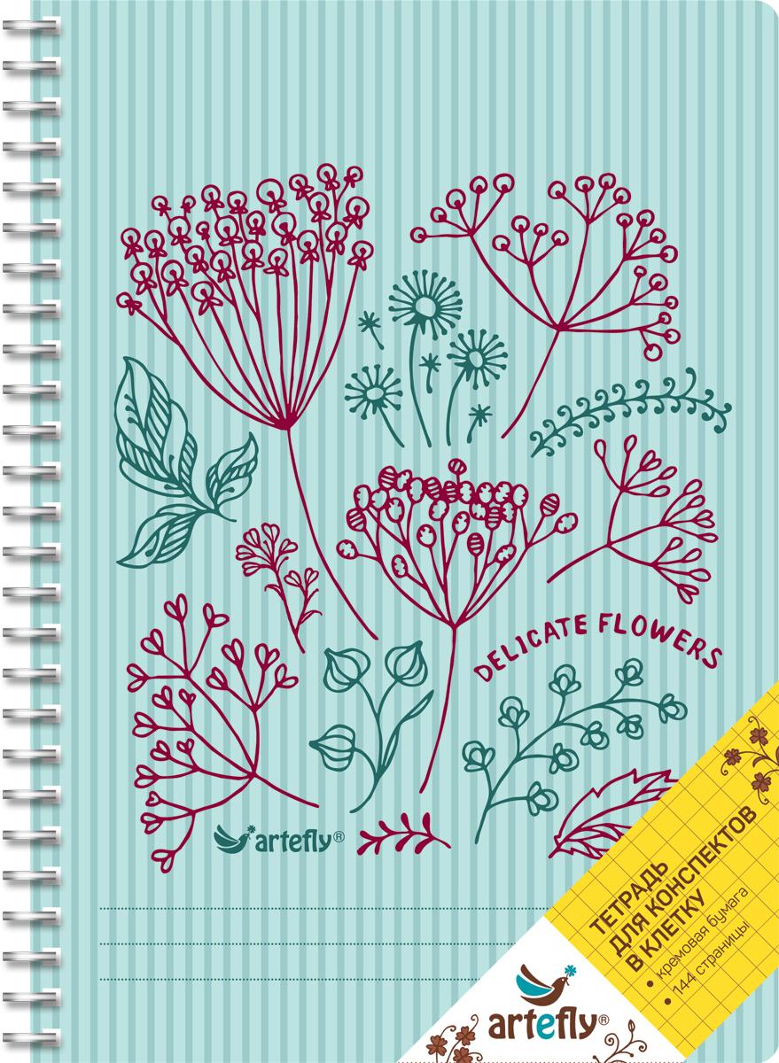 Artefly Тетрадь Delicate Flowers 72 листа в клеткуAFNB-FL2-BL-SQТетрадь в клетку для ведения записей. Красивая и яркая обложка раскрасит твои студенческие будни, такую тетрадь удобно использовать для конспектов. Приятная бумага кремового цвета не оставит тебя равнодушным.