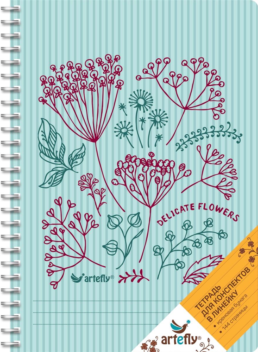 Artefly Тетрадь Delicate Flowers 72 листа в линейкуAFNB-FL2-BLТетрадь Artefly Delicate Flowers предназначена для ведения записей. Ее удобно использовать для конспектов. Красивая и яркая обложка с закругленными углами раскрасит студенческие будни. Внутренний блок представлен 72 листами и скреплен спиралью. Приятная бумага кремового цвета в линейку никого не оставит равнодушным.